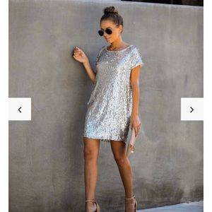Vici Dolls Silver Sequin Dress